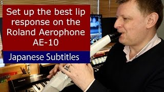 Set up the best lip response on the Roland Aerophone AE-10 Japanese subtitles.