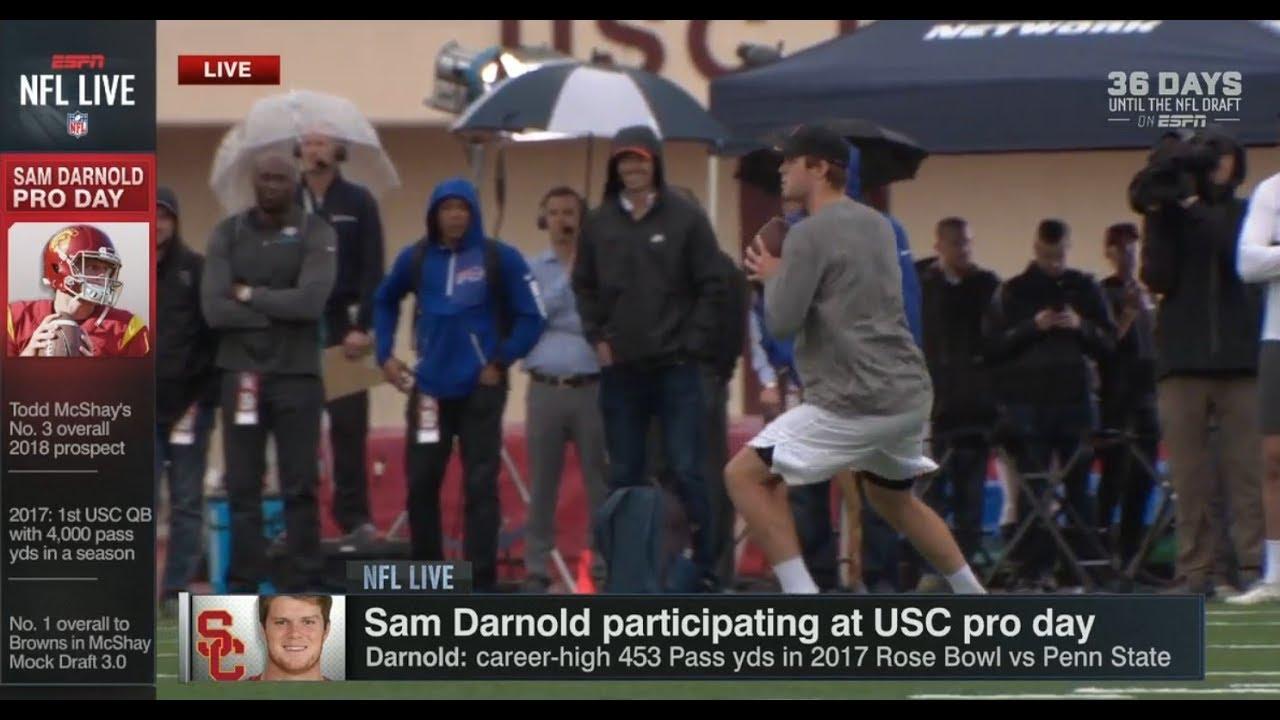 Sam Darnold At Usc Pro Day Live Part I Nfl Live Mar 21 2018