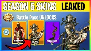 *NEW* Fortnite: SEASON 5 BATTLE PASS SKINS & THEME LEAKED! Fortnite Battle Royale Leaks