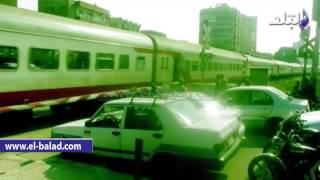بالفيديو.. عودة حركة القطارات بالصعيد بعد حادث بني سويف