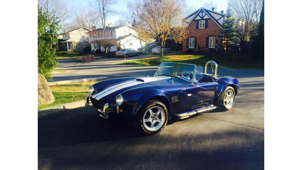 1965 Shelby Cobra Beautiful Blue Roadster Kit Car V8 Youtube
