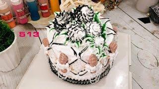 simple cake brown color black - bánh đơn giản đen nâu (513)