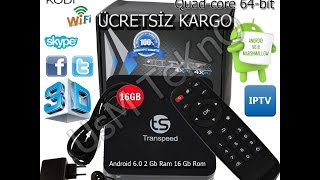 trans speed tv box 2 gb 16 gb rom andorid 6 0 1