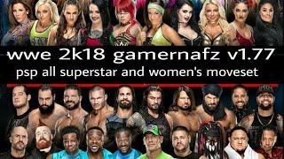 Wwe 2k18 psp v1.77 gamernafz all superstar and women's moveset