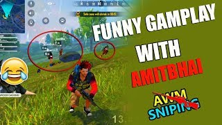 Funny Gameplay with Desi Gamers -AWM SNIPING - Garena Free Fire