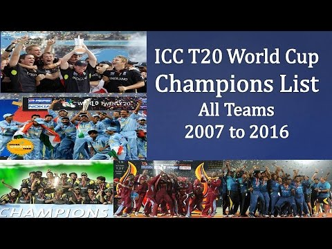 T20 World Cup Winners List  Before  Icc t20 world cup 2018  t20 world cup winning moment