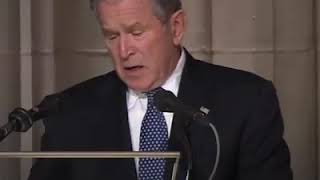 Condolence speech delivered  by George Bush
