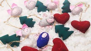 №54 Игрушки НОВОГОДНИЕ если у Вас маленькие дети и животные. Свинка.
