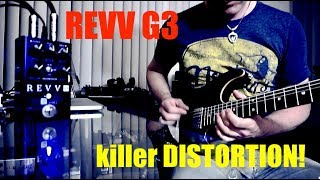 REVV G3 DISTORTION demo by Pete Thorn