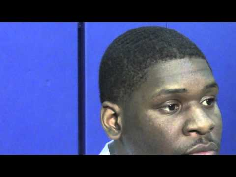 Adonis Thomas one-on-one at media day