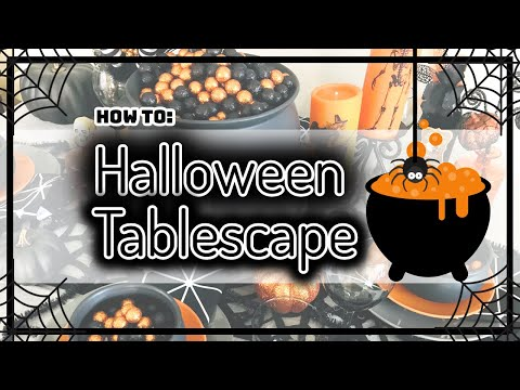 How To: Witch Theme Halloween Tablescape 2019 | Hocus Pocus | Home Decor | Fall Decor |
