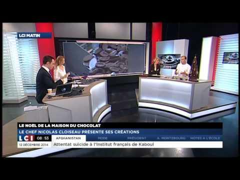 Chocolats de Noël : Nicolas Cloiseau présente ses créations sur LCI - La Maison du Chocolat
