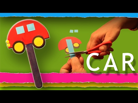 How To Make A Car - Craft Paper - Step By Step DIY
