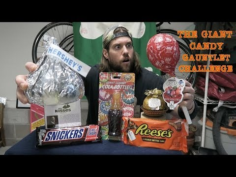The GIANT CANDY Gauntlet Challenge (7,424 Calories) Doesn't Go As Planned | L.A. BEAST