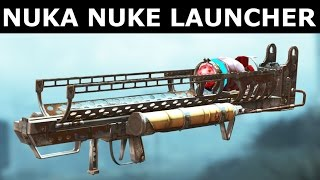 Fallout 4 Nuka World - Nuka Nuke Launcher - New Weapon In Action