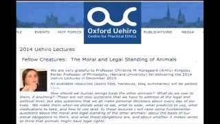 Uehiro Lectures 2014 (lecture 1)--Christine Korsgaard, Harvard University (Audio only) Thumbnail