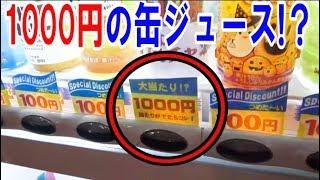 【何これ?】1缶1000円する当たり付き自販機買ったら…
