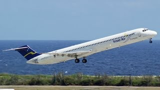 Amazing JETBLAST - MD80 Rocketing out of Juliana, HD