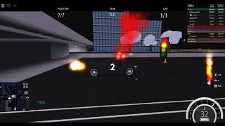 ROBLOX Vehicle simulator Race glitch.