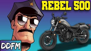 The Cops Sure Do Love The Honda Rebel 500...