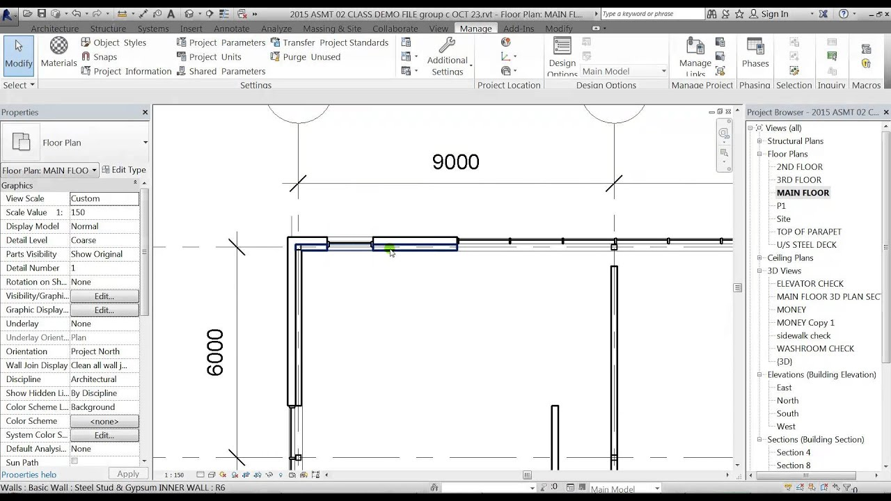 revit office building lesson 33 lineweights level of detail youtube