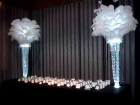 1920 39 s great gatsby themed centerpieces at the edison for 1920 s party decoration ideas