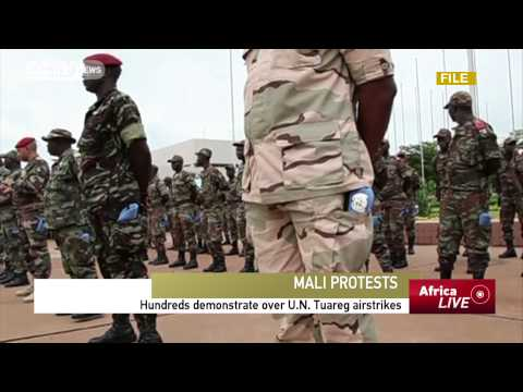 Hundreds Demonstrate over U.N. Tuareg Airstrikes in Mali