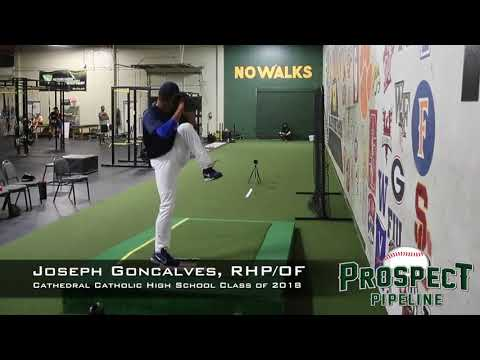Joseph Goncalves Prospect Video, RHP/OF, Cathedral Catholic High School Class of 2018