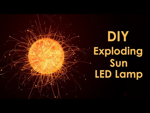 Exploding Sun LED Lamp | Simple DIY Project