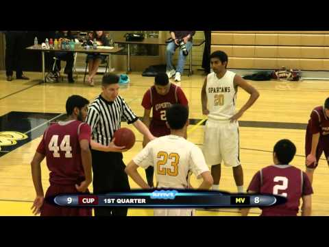 Cupertino Pioneers vs Mountain View Spartans - Boys Basketball January 27, 2016