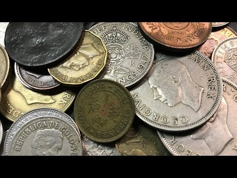 OLD & RARE Coins World Coin Half Pound Grab Bag Search - Bag #10