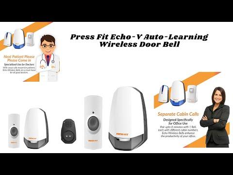 Press Fit Echo-V Auto-Learning Wireless Door Bell