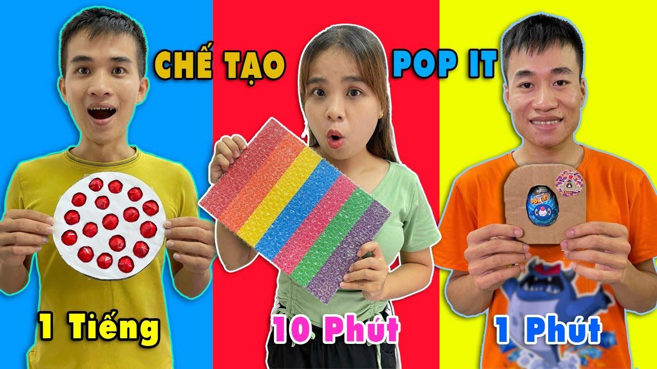 Download Cuộc thi làm POP IT theo thời gian 1 phút 10 phút 1 tiếng - Ai làm đẹp nhất?