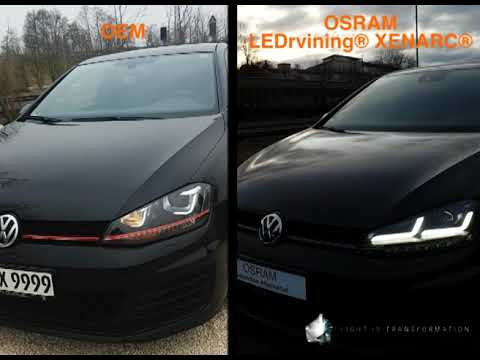 osram ledriving xenarc vw golf 7 scheinwerfer. Black Bedroom Furniture Sets. Home Design Ideas