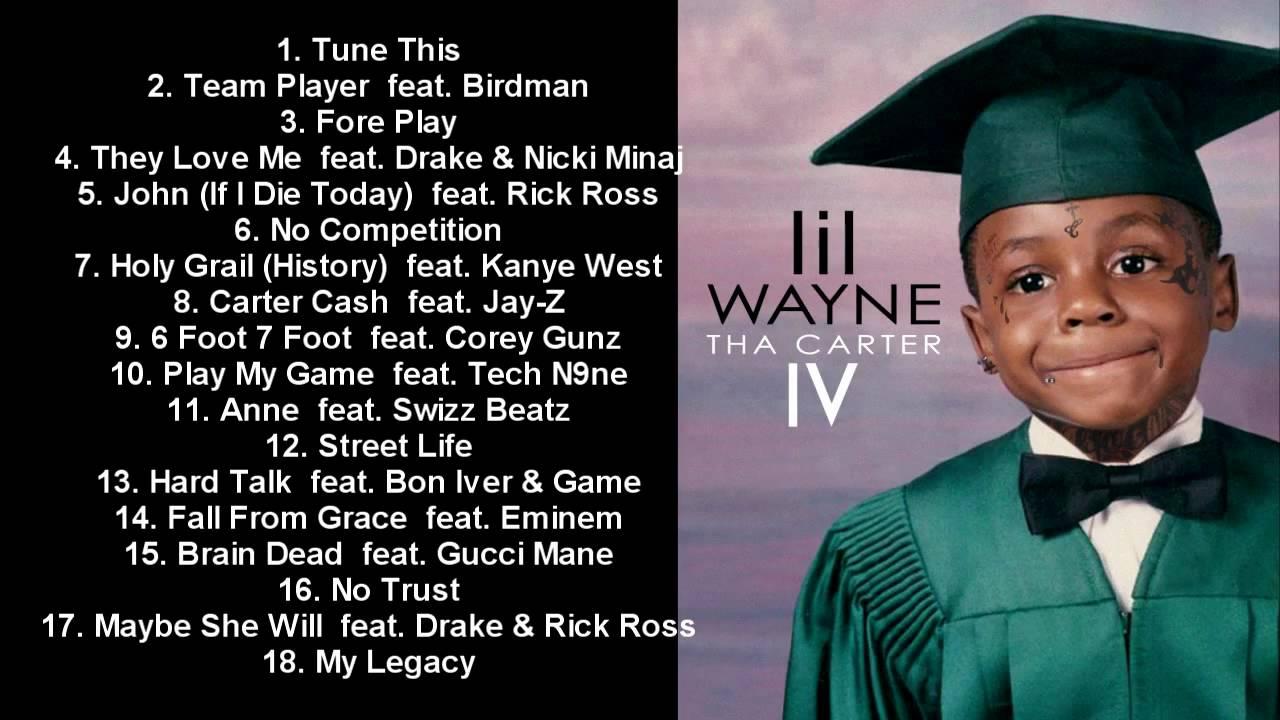 lil wayne official carter 4 album release tracklist