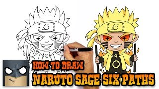 How to Draw Naruto | Sage of Six Paths Mode