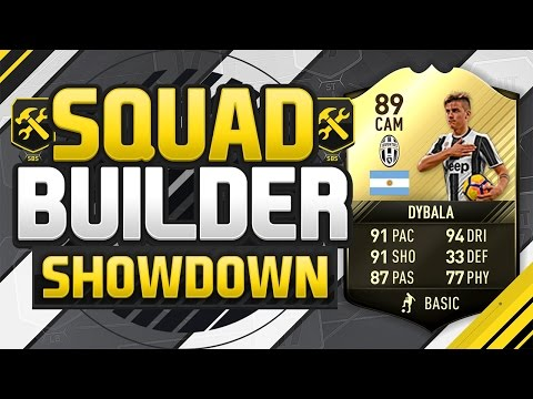 FIFA 17 SQUAD BUILDER SHOWDOWN!!! 89 RATED DYBALA!!! Fourth Inform Dybala Squad Duel