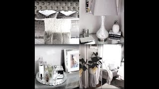 My Glam Gray And White Bedroom Tour|2018