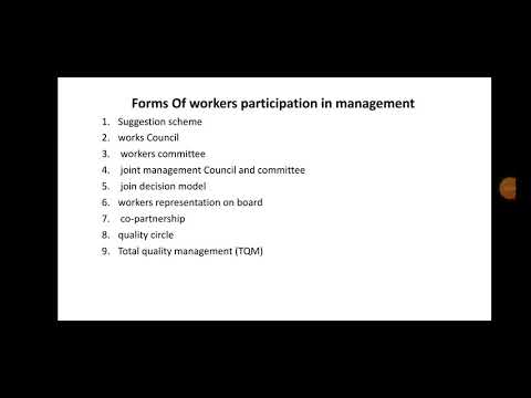 Forms Of Workers Participation In Management