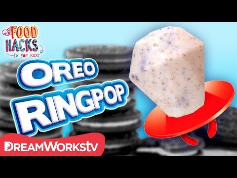 Cookies n Creme Ringpop + More Oreo Hacks   FOOD HACKS FOR KIDS