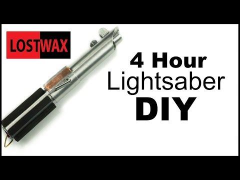 DIY Lightsaber. I Make a Luke Skywalker Lightsaber in 4 hours Without Buying Anything!