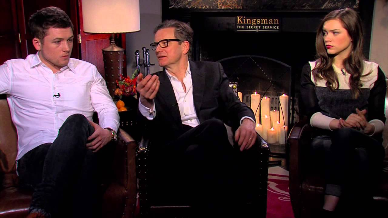 Exclusive Colin Firth Taron Egerton And Sophie Cookson: Kingsman Cast Interview