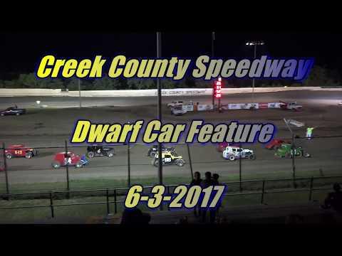 Dwarf Car Racing at Creek County Speedway 6-3-2017