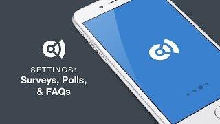 Convene Surveys. Polls, and FAQs