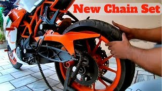 KTM RC200/390 Chain Kit Replacement at Home without Chain Breaker tool.