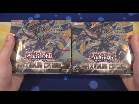 Yugioh Maximum Crisis 1st Edition Unboxing x2 - Double Unboxing!!!