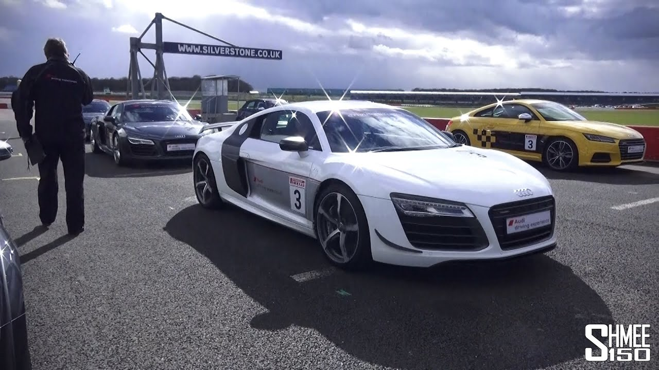 Audi R8 Plus, RS 5, TTS, S1 - Experience Centre Silverstone - YouTube