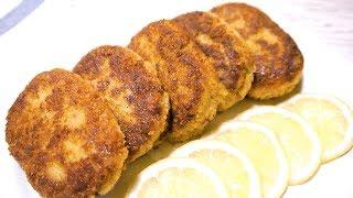 Рыбные Котлеты Из Минтая. Как Приготовить Нежные Рыбные Котлеты. Кулинарные Секреты.