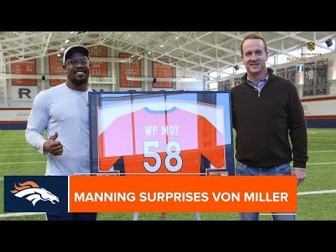 Peyton Manning surprises Von Miller with Walter Payton Man of the Year nomination