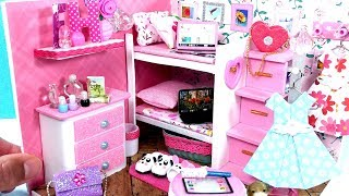 DIY Miniature Dollhouse Bedroom with a Bunk Bed